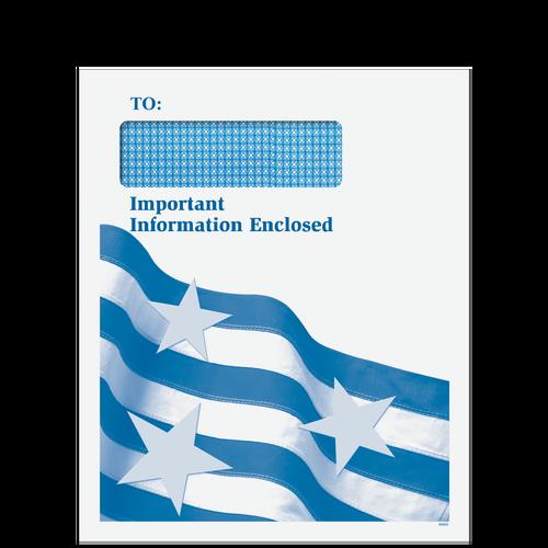 CLNT9D10 - Single Window Patriotic Envelope