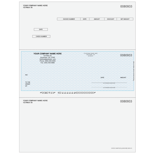 L80933 - Accounts Payable Middle Business Check