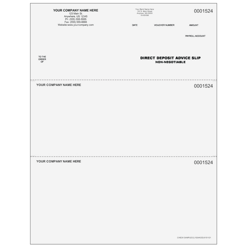 L1524 - Advice of Deposit Top