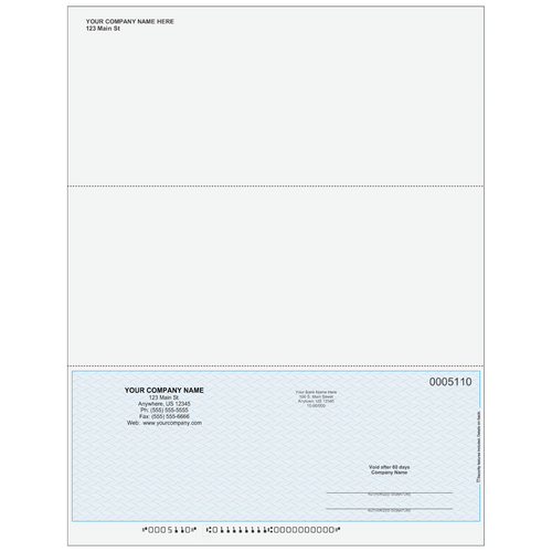 5110SKYC - Multi-Purpose Bottom Business Check