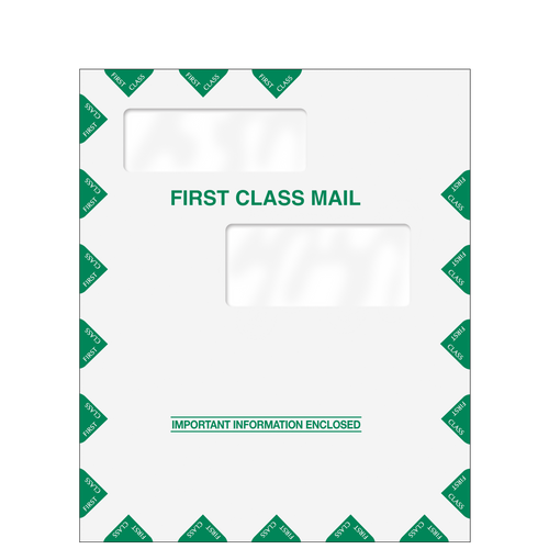 80326 - 9.5 x 11.5 Double Window First Class Envelope