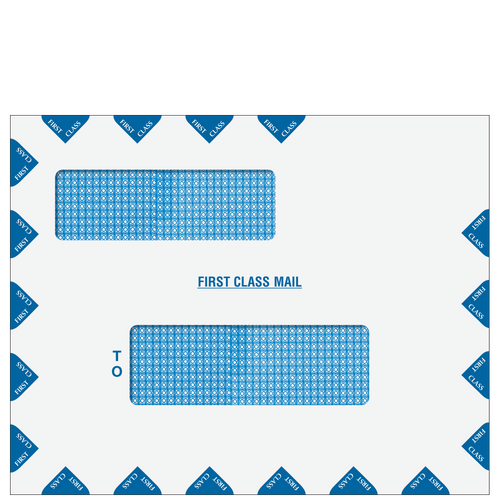 80783PS - Double Window First Class Mail Envelope (Peel & Close)
