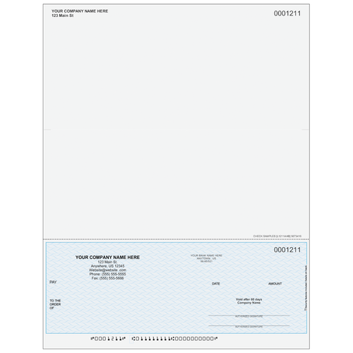 L1211A - Multi-Purpose Bottom Business Check 7.5 only