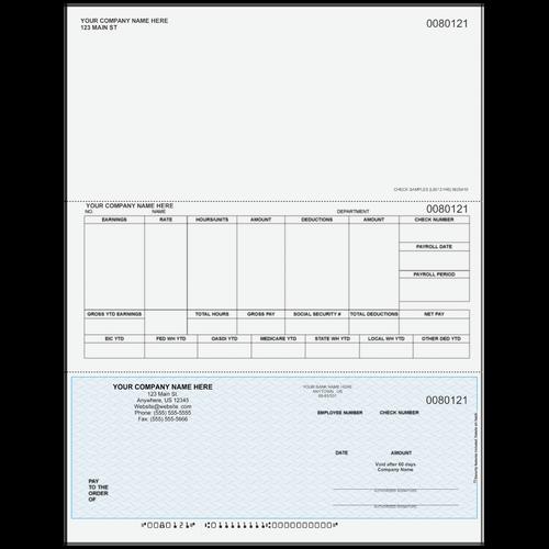 L80121 - Payroll Bottom Business Check