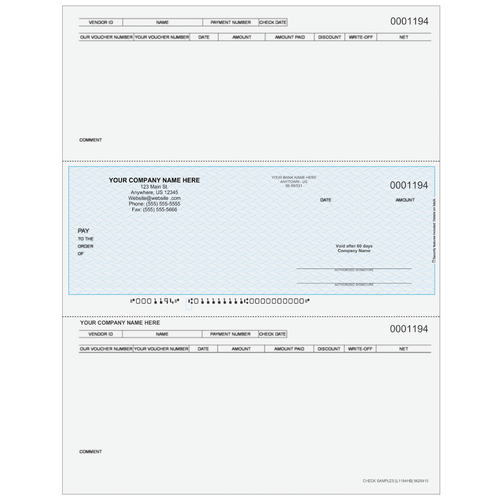 L1194 - Accounts Payable Middle Business Check