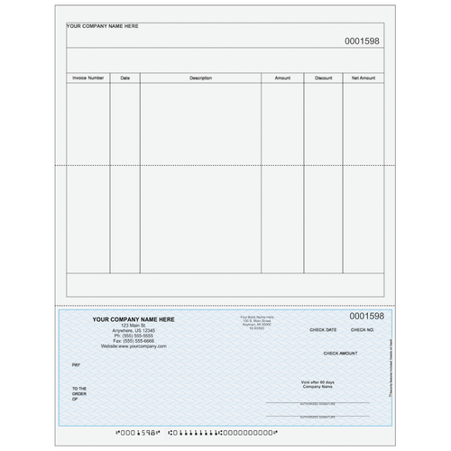 L1598 - Accounts Payable Bottom Business Check