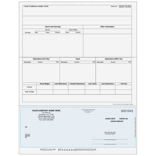 L1545 - Payroll Bottom Business Check