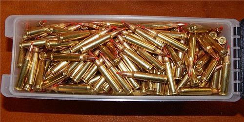 223 55gr Vmax With Crimp New Winchester Brass 5.56x45 500 Rounds