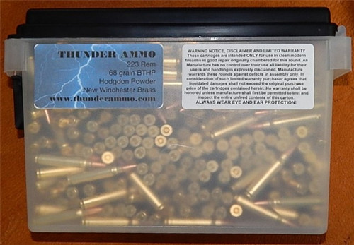 223 68 gr BTHP  New Winchester Brass 5.56x45 500 Rounds