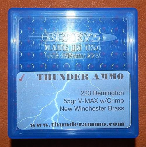 223 55gr Vmax New WCC Brass W/ Crimp  5.56x45 200 Rounds