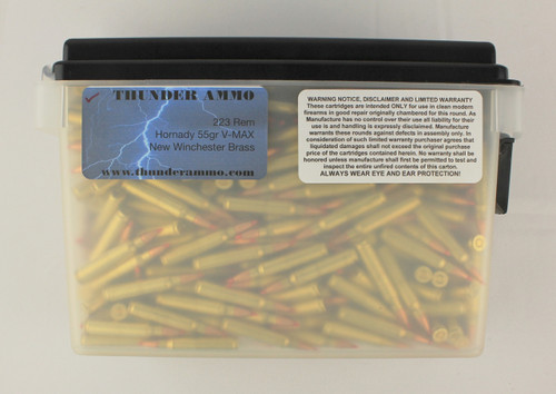 223 55gr V-Max in New Winchester Brass Precision Ammo 500 Rounds --
