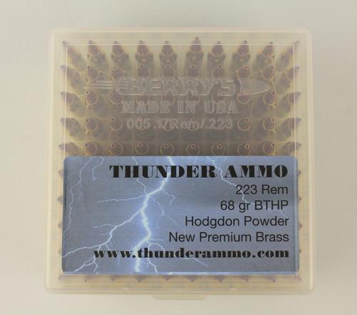 223 68gr BTHP New Premium Brass 100 Rounds --