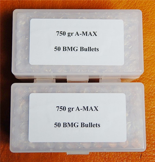Hornady AMAX 750 Grain 50 BMG Bullets A-Max 100 Count