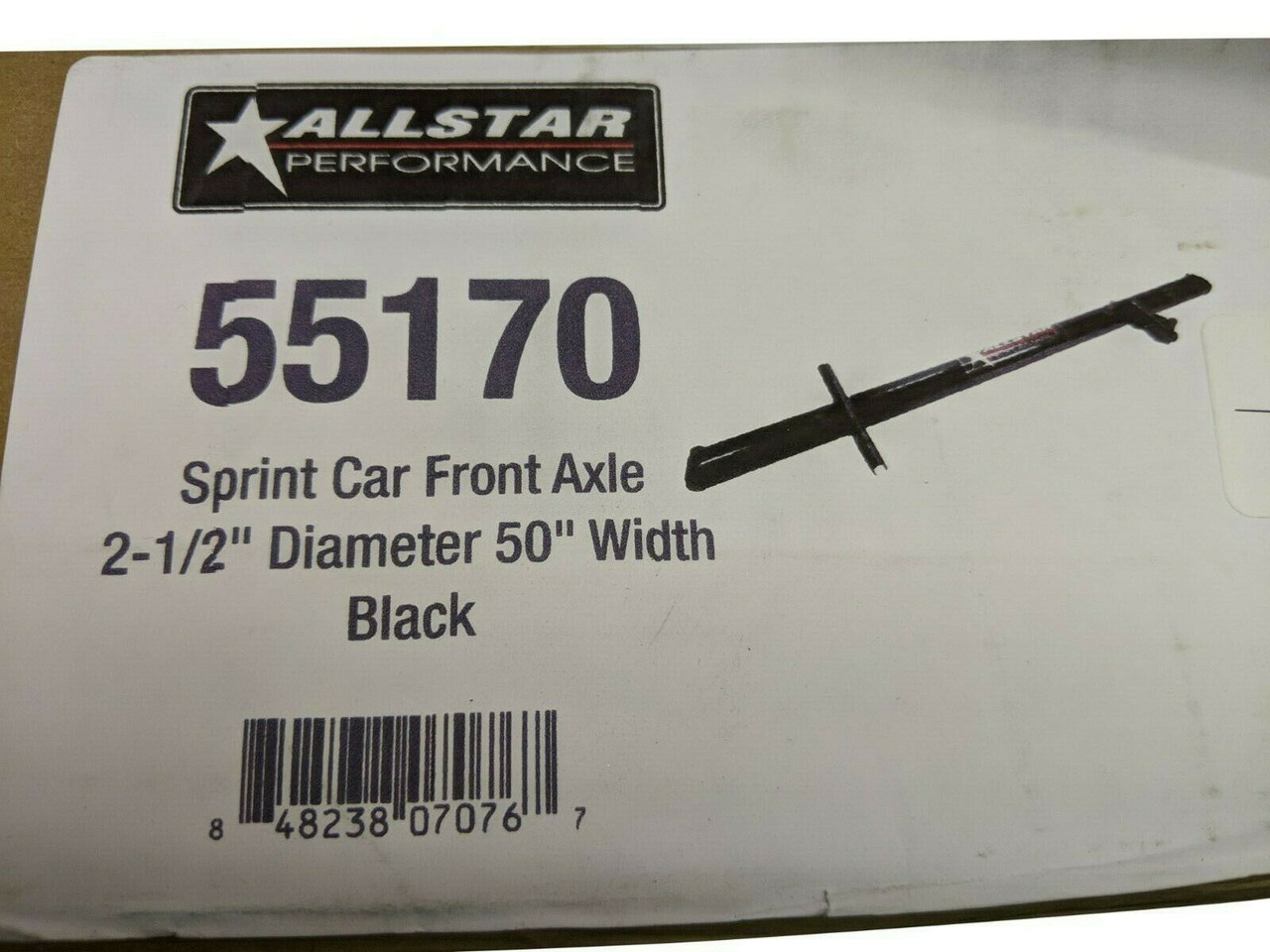 Allstar Performance Front Sprint Car Front Axle Black ALL55170