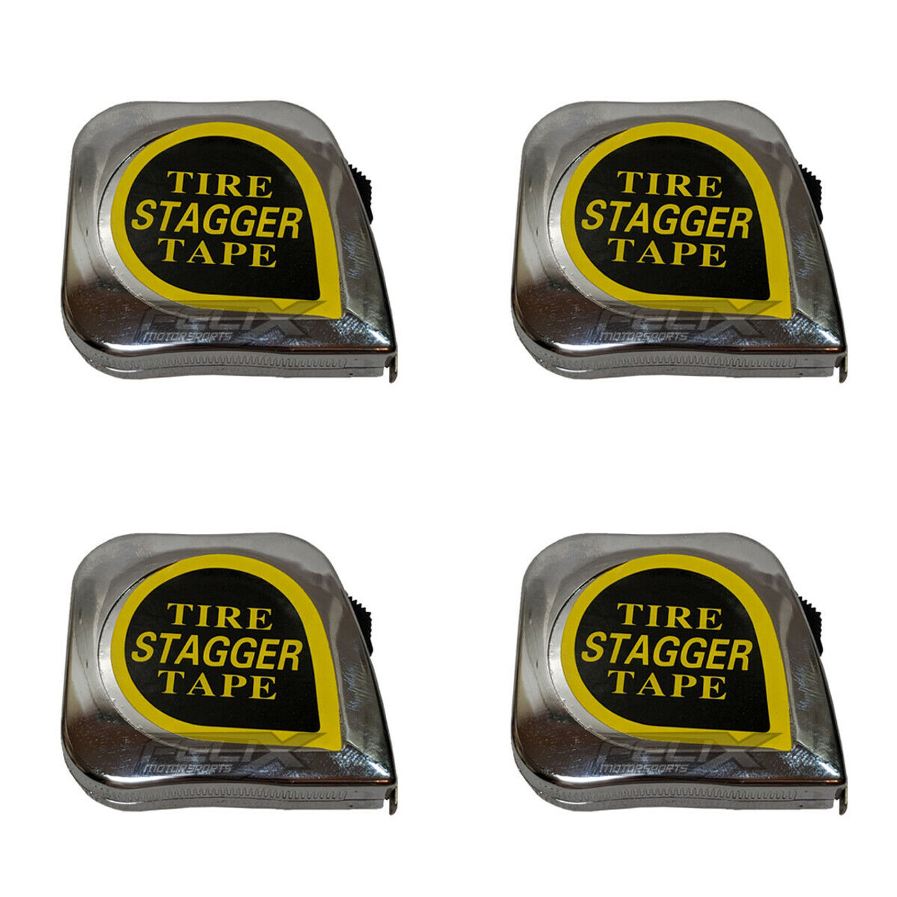 10/' Racing Tire Stagger Tape Measure with Magnetic Back Chrome Plated Race