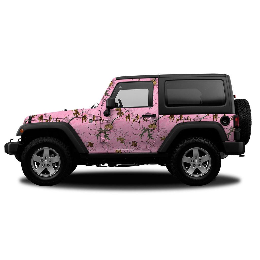 Realtree Camo Jeep/SUV Vehicle Wrap Xtra Pink