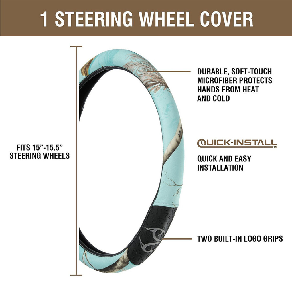 Realtree Mint 2-Grip Steering Wheel Cover Information