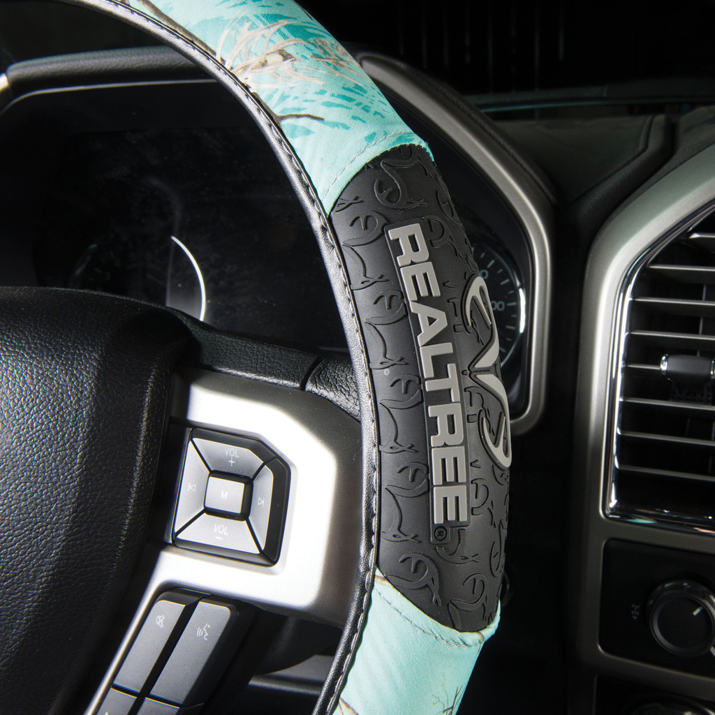 Realtree Mint 2-Grip Steering Wheel Cover Side Image