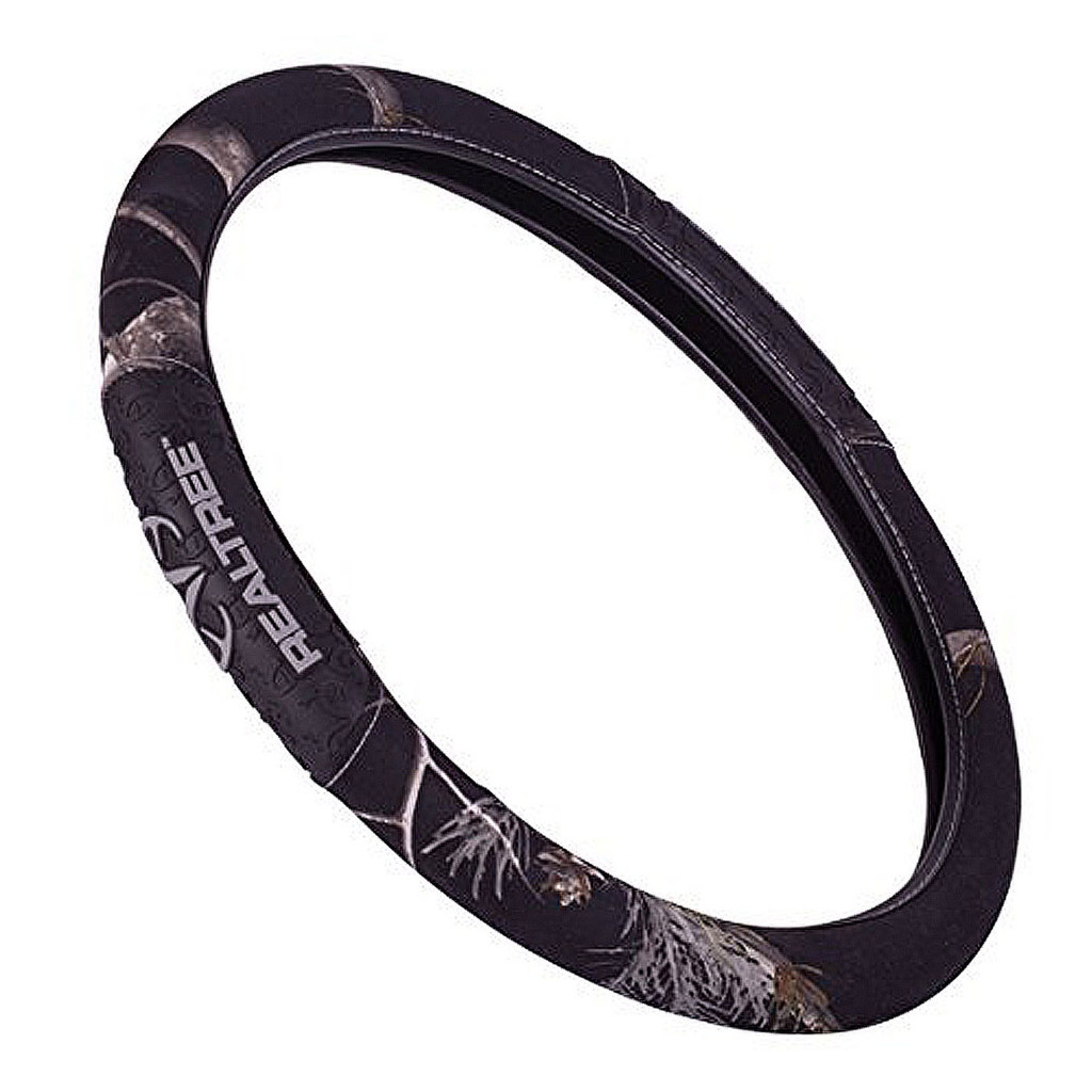Realtree Black 2-Grip Steering Wheel Cover