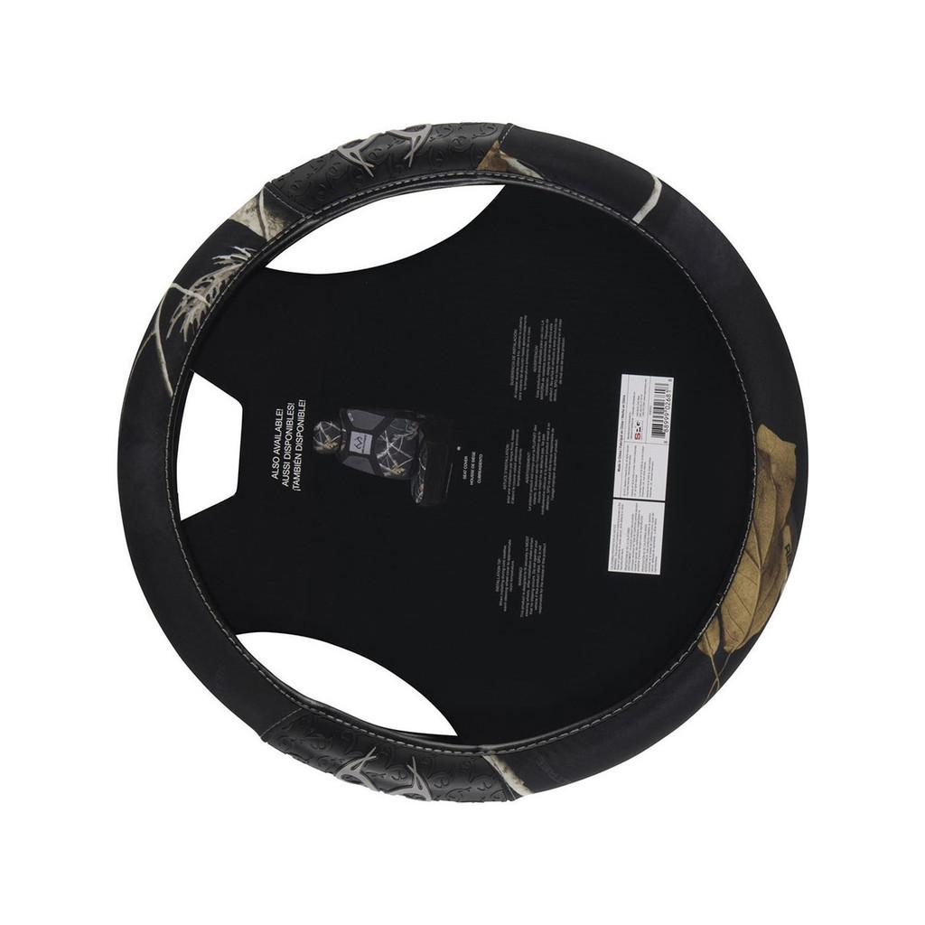 Realtree Black 2-Grip Steering Wheel Cover Back