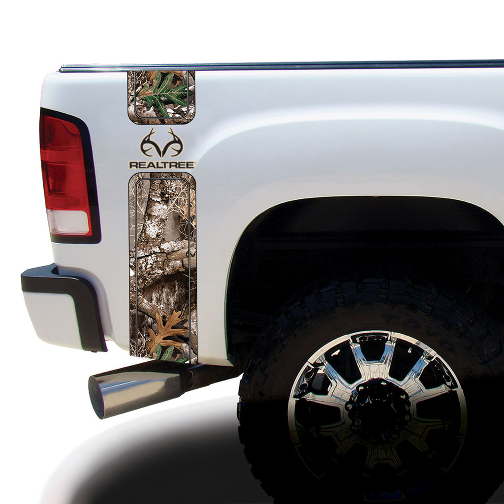 Realtree Antler Logo Camo Bed Bands in Edge