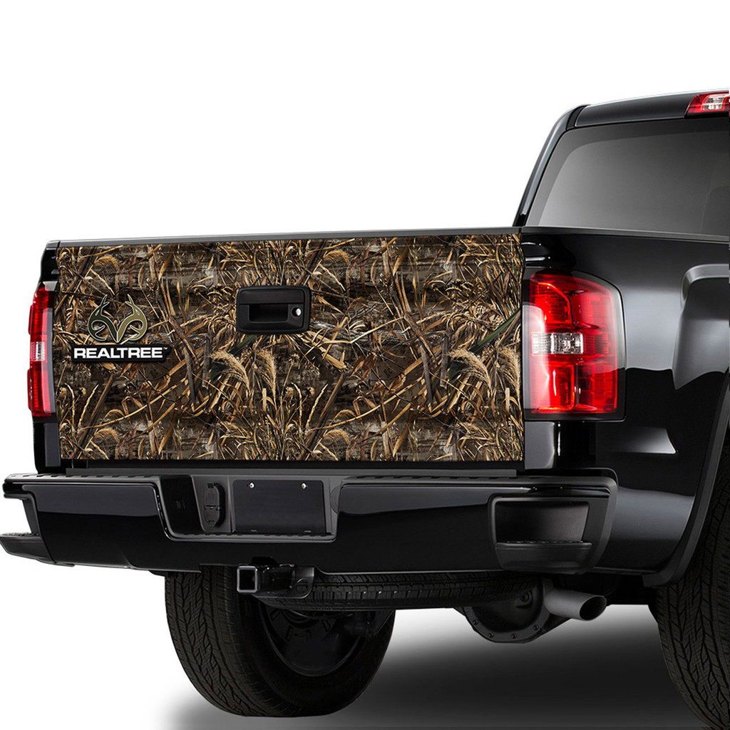 Realtree Camo Truck Tailgate Graphic in Max-5
