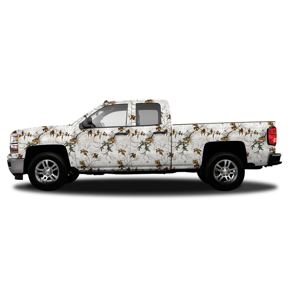 Realtree Standard Size Vehicle Wrap shown in Realtree Xtra Snow