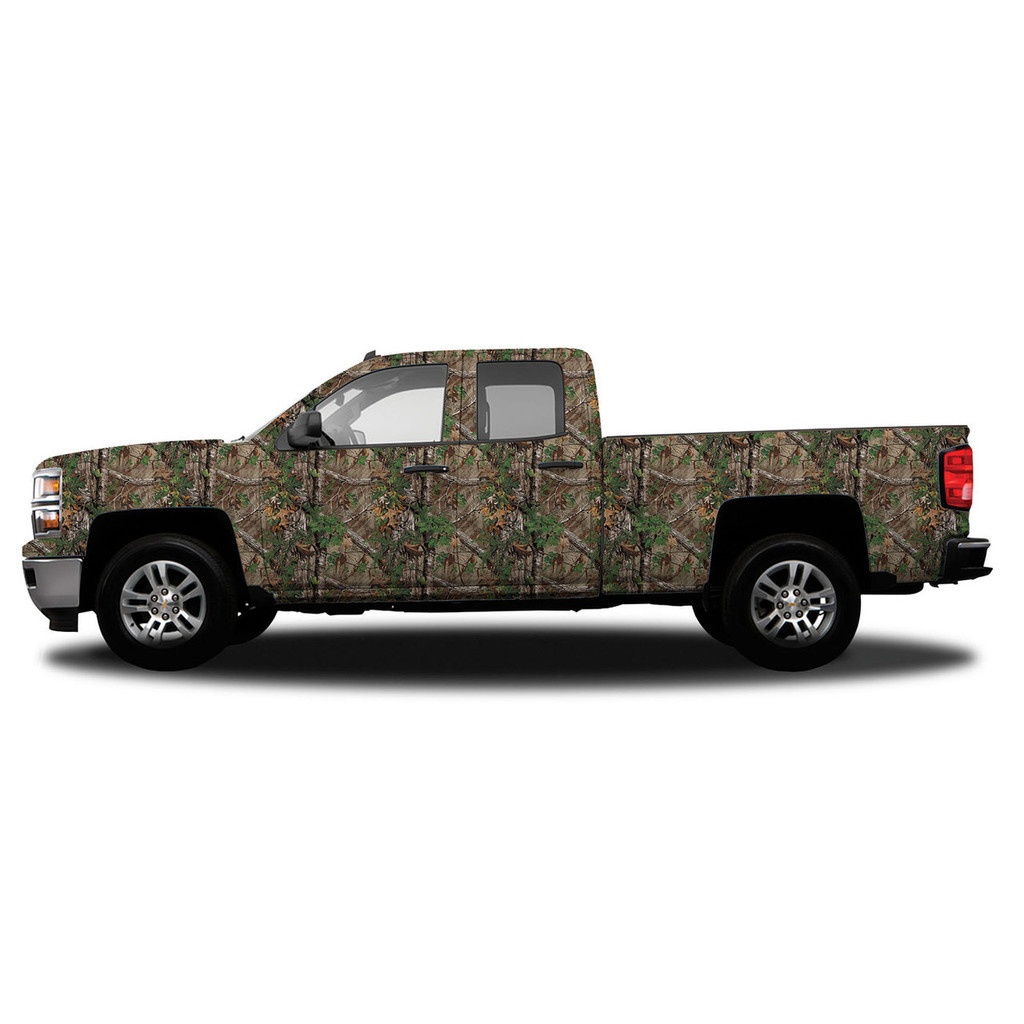 Realtree Standard Size Vehicle Wrap shown in Realtree Xtra Green