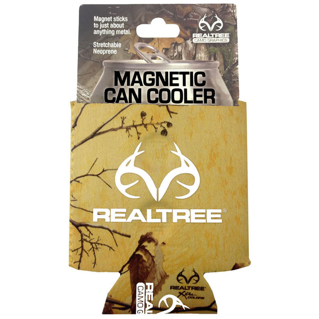 Realtree Magnetic Antler Logo Can Koozie Xtra Tropical Heat Package