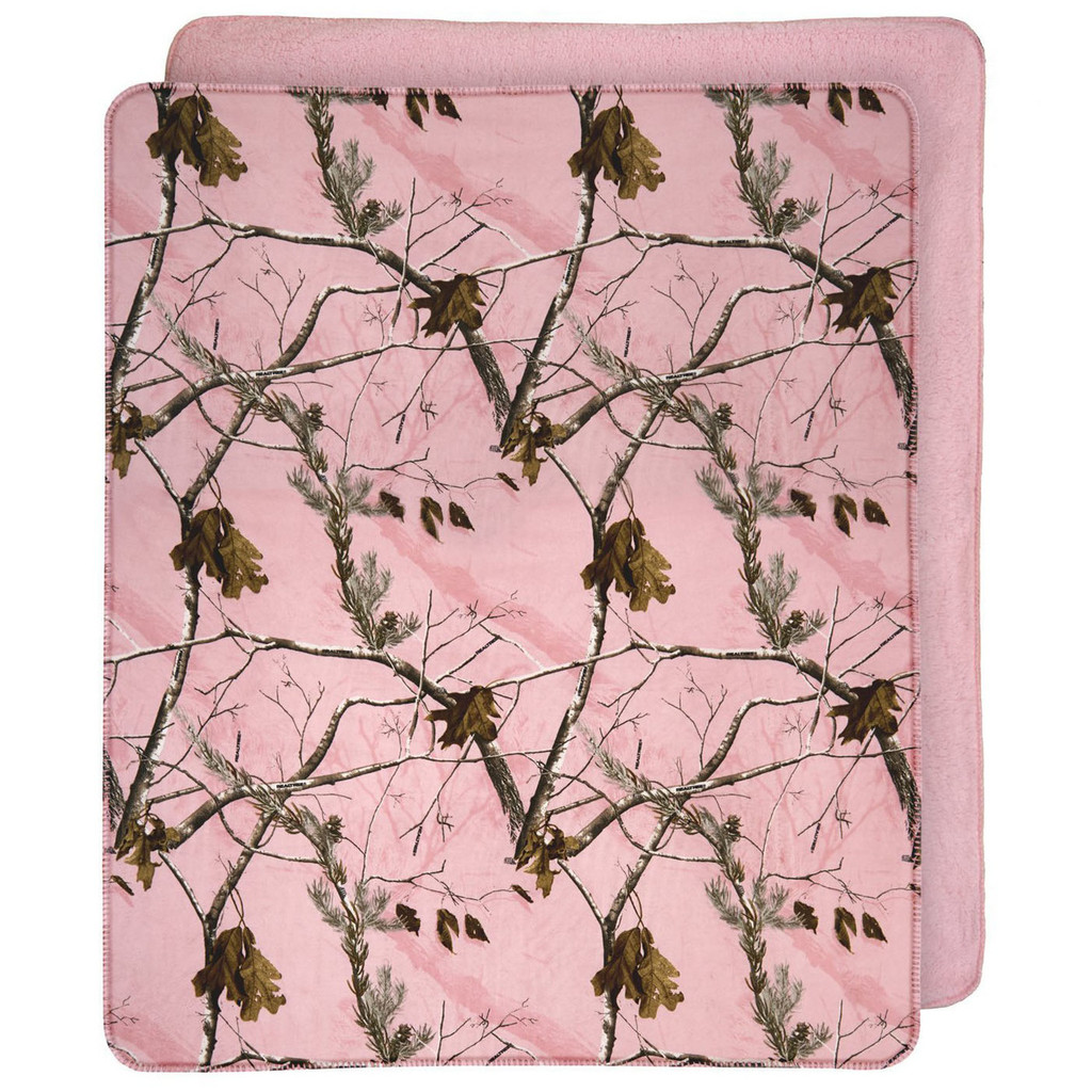 Realtree AP Pink Throw Blanket