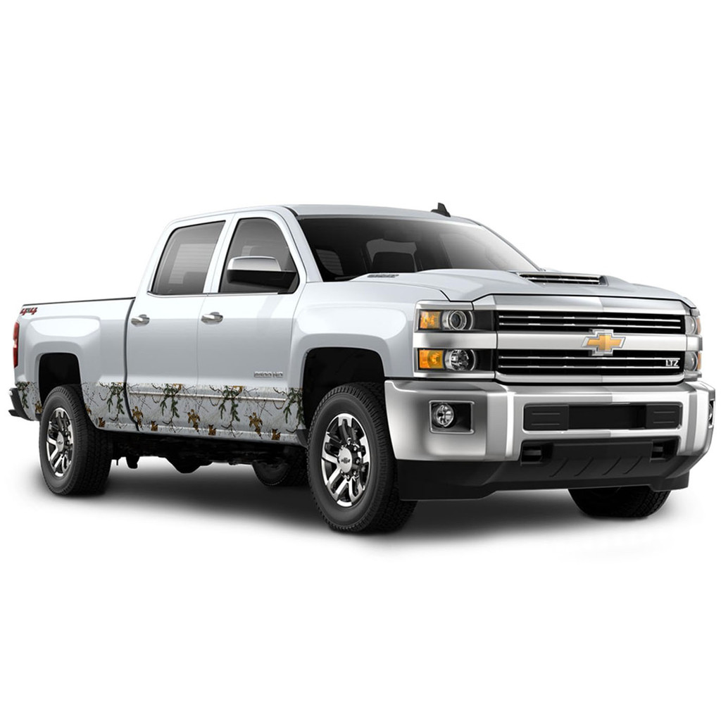 """Camo Accent Vehicle Wrap (12"""" X 28') in Xtra Snow"""