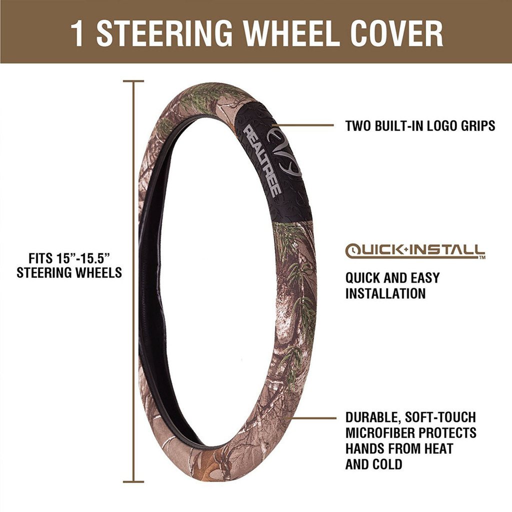 Realtree Xtra Steering Wheel Cover Information