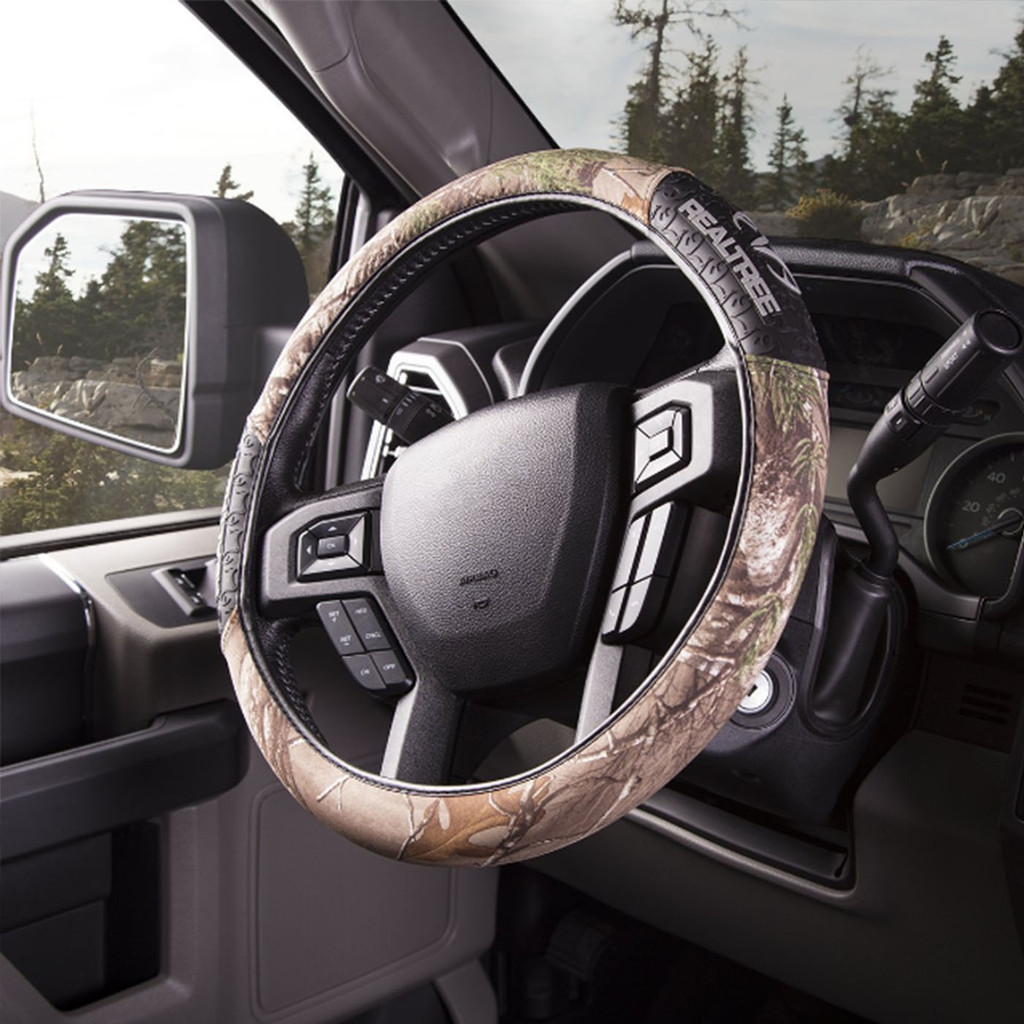 Realtree Xtra Steering Wheel Cover on Truck