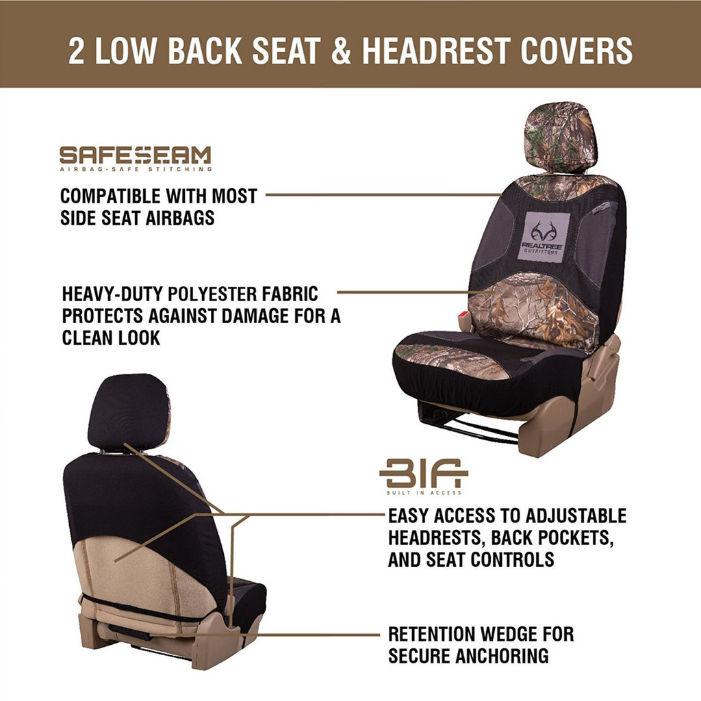 Realtree Xtra Lowback Seat Cover information