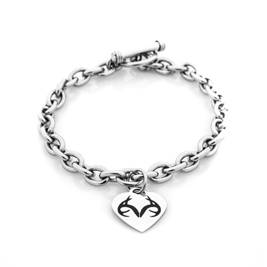 Realtree Heart Toggle Bracelet