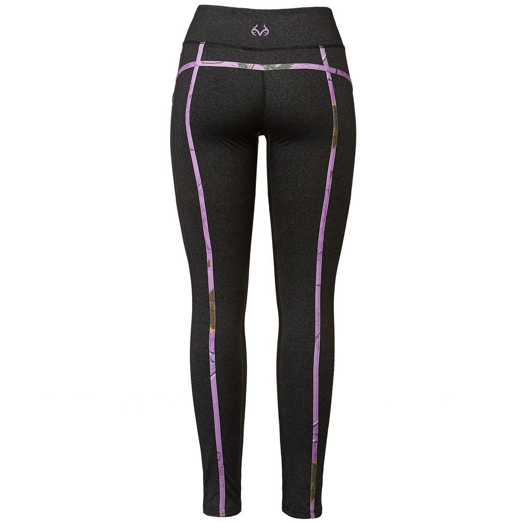 Realtree Women's Purple Camo Active Leggings Back