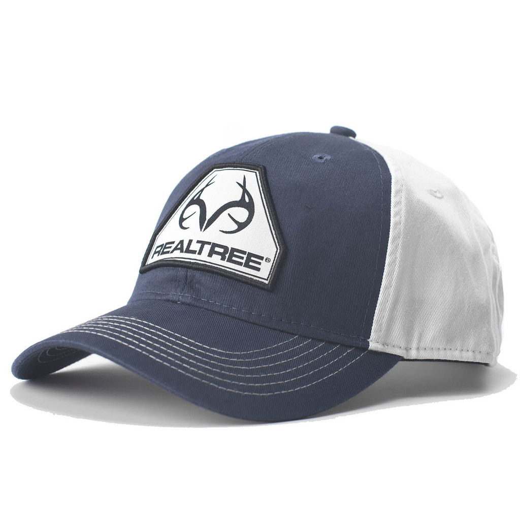 Realtree Navy Antler Logo Patch Hat  5a3b8ec0821