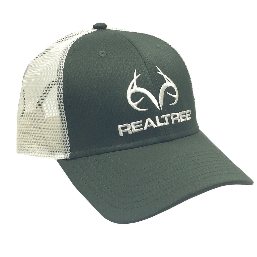 Realtree Green Performance Antler Logo Mesh Back Hat  90b773337a0