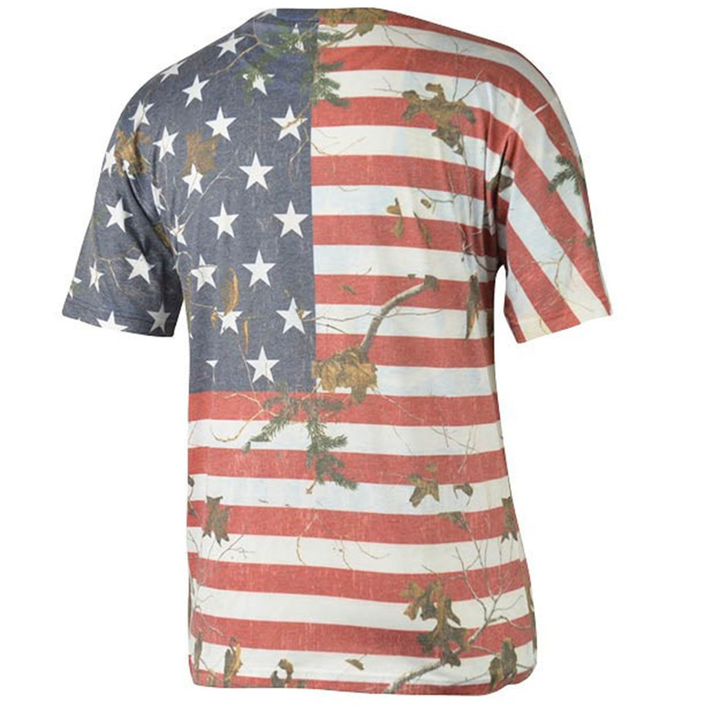 Realtree Men's Camo Independence Tee Back