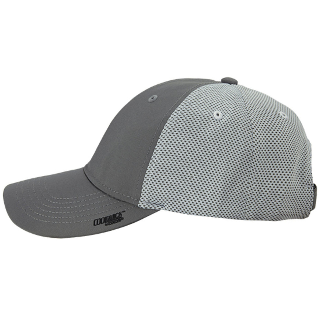 Realtree Fishing CoolQwick Gray Mesh Back Hat Image