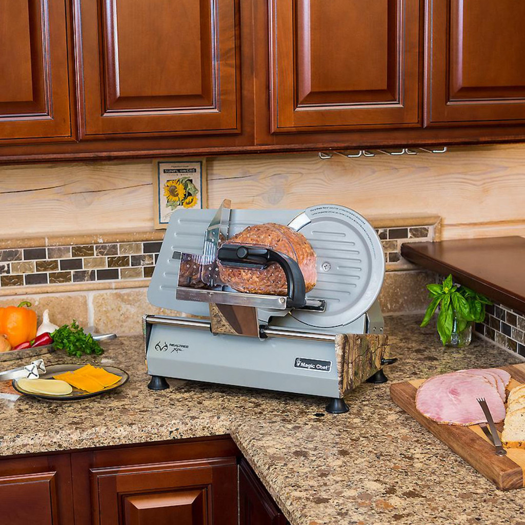 """Magic Chef 8.6"""" Meat Slicer in Use"""