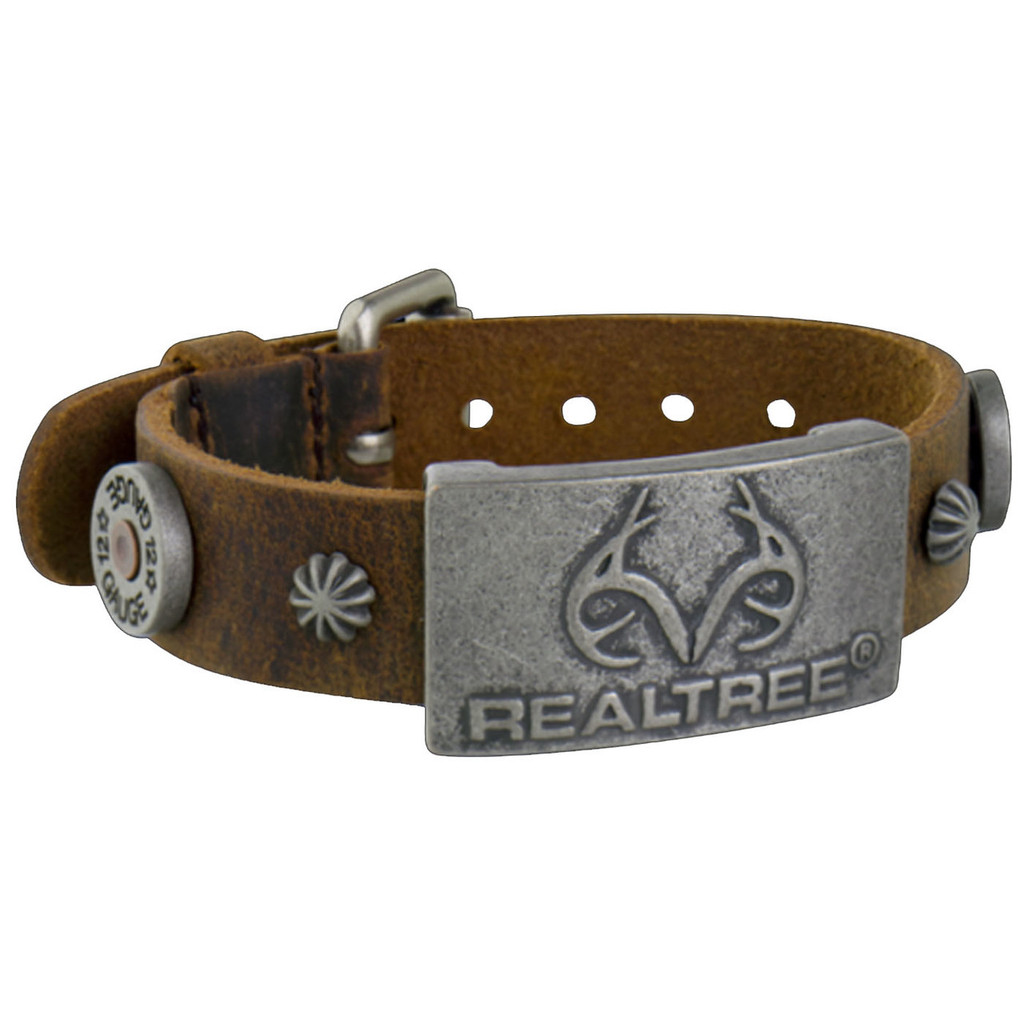 Realtree Brown Leather Magnetic Wristband