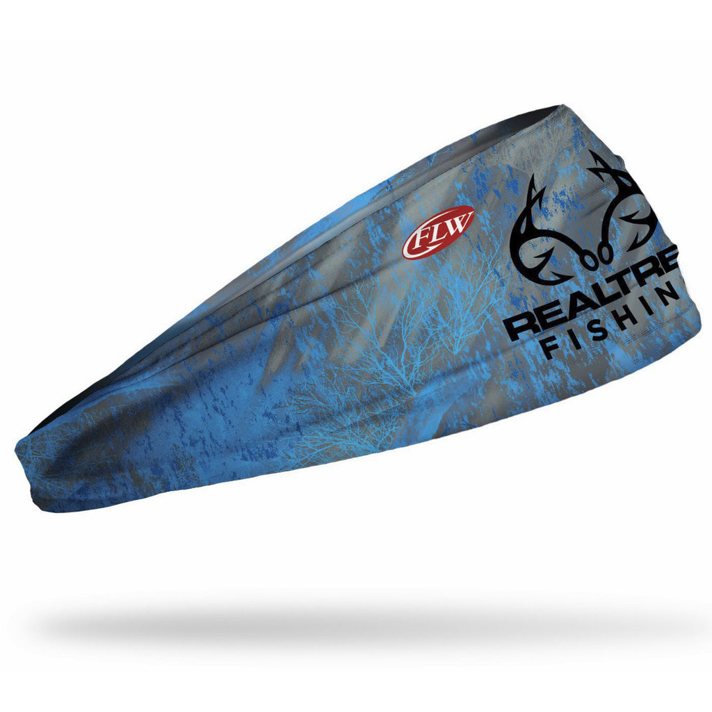 Realtree Fishing Electric Blue Performance Headband Side