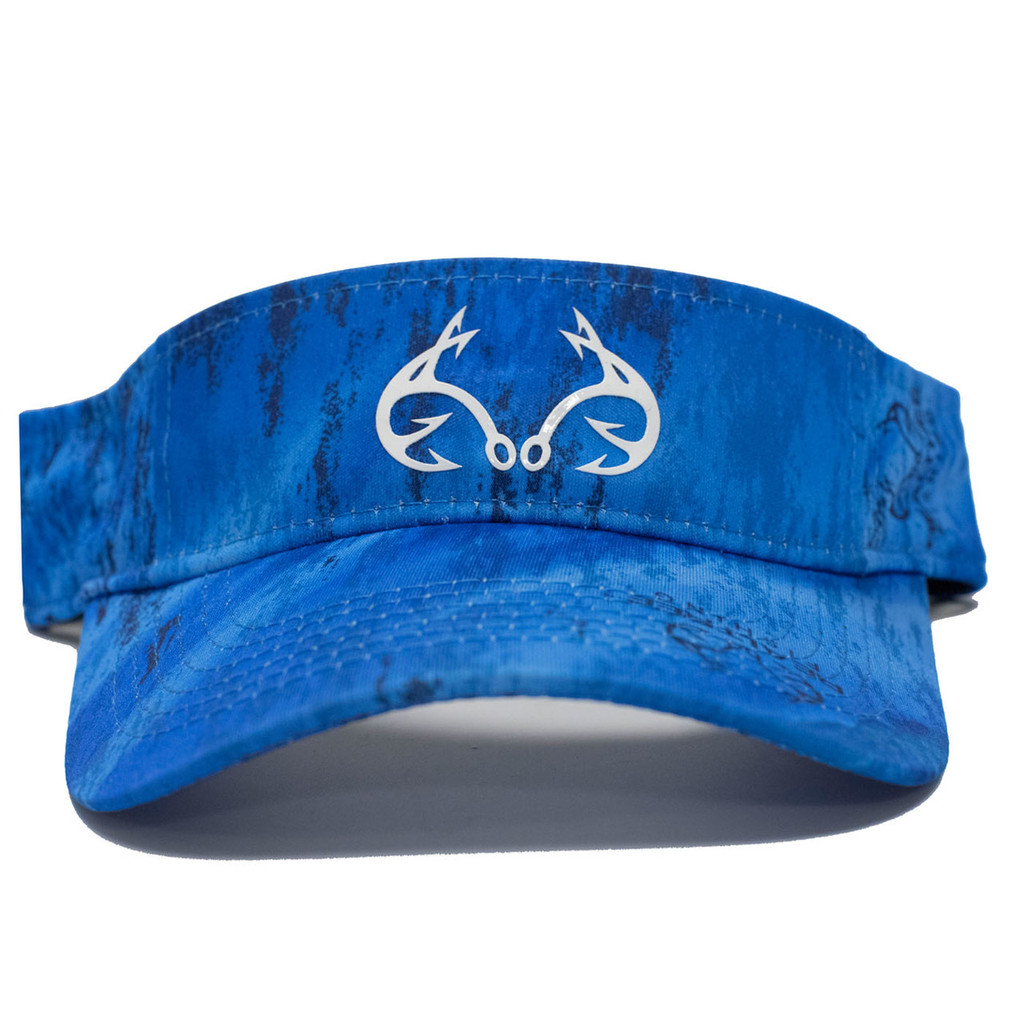 Blue Performance Fishing Visor Front