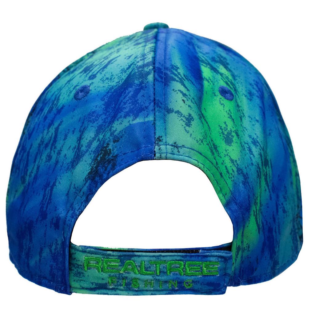 Realtree Fishing Blue Green Performance Hat Back
