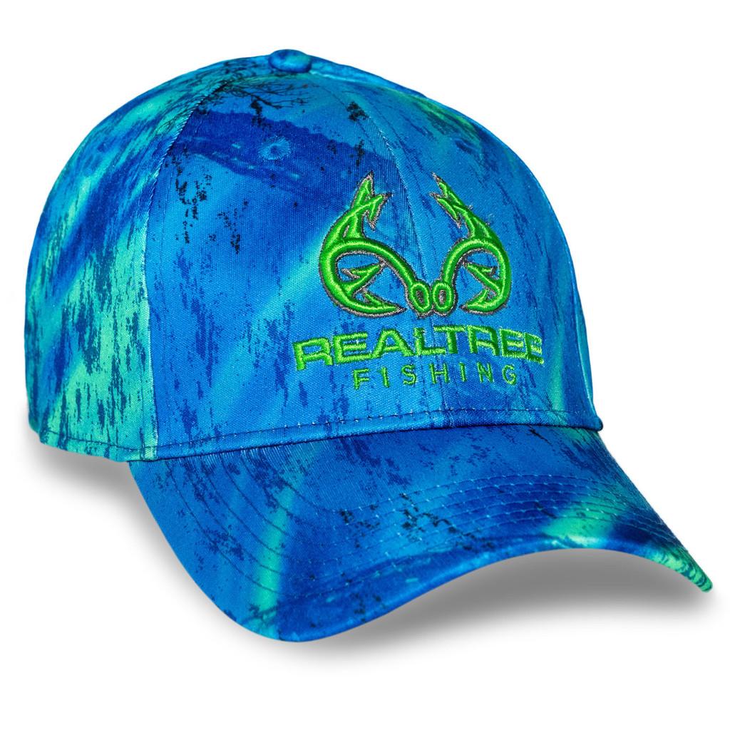 Realtree Fishing Blue Green Performance Hat