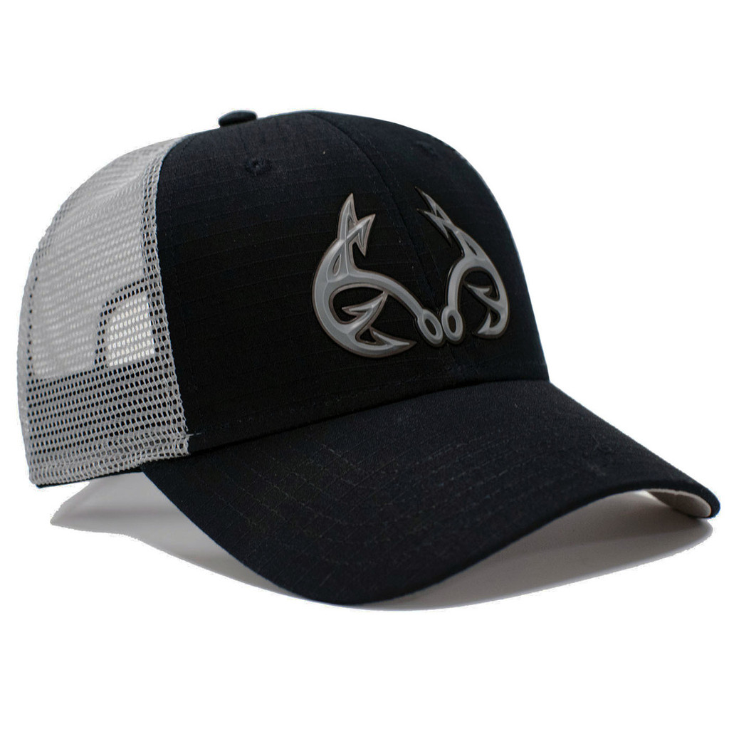 Realtree Fishing Black Tactical Mesh Back Hat Black