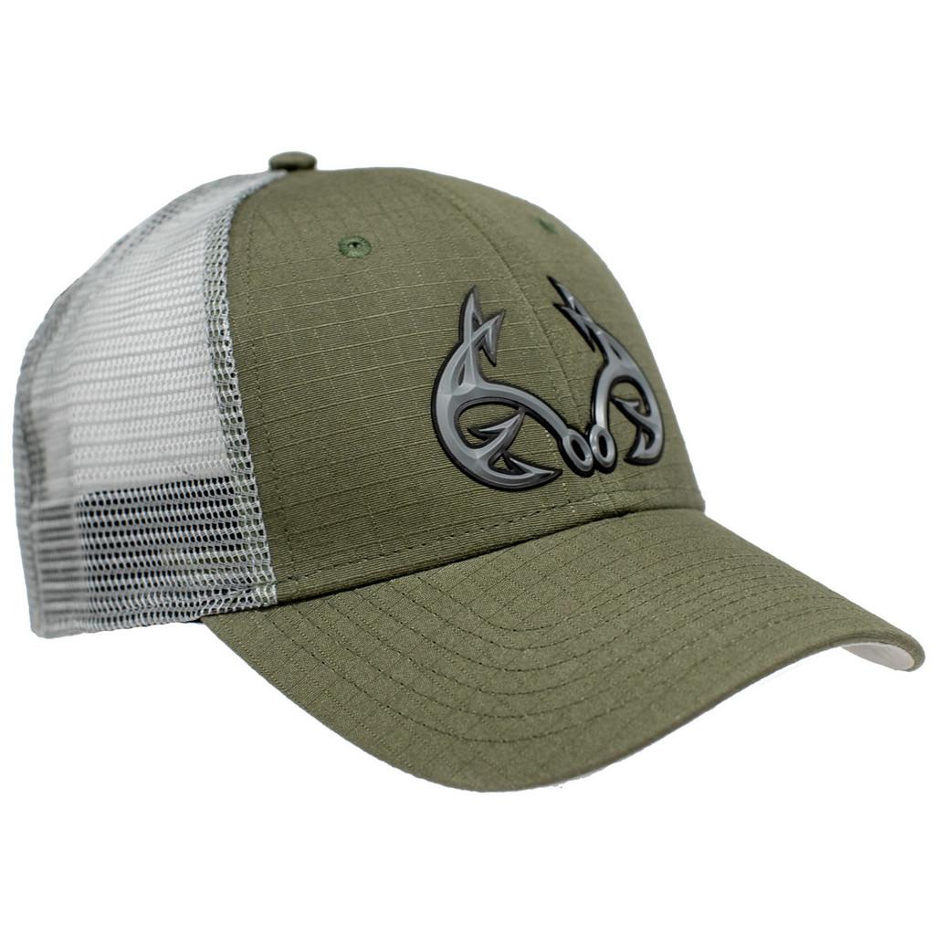 Realtree Fishing Green Tactical Mesh Back Hat Side