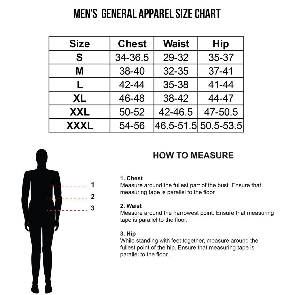 Men's Size Charts