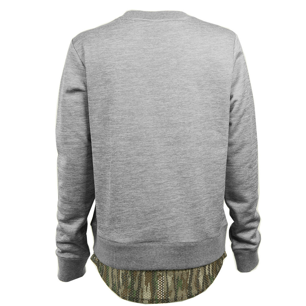 Glide Crew Neck Fleece Pullover Back Image